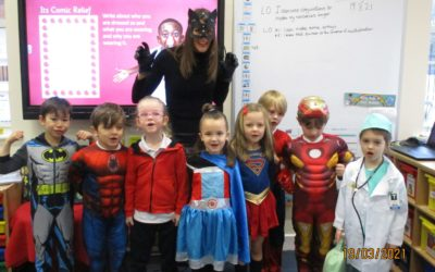 Superheroes for the day! Comic Relief 2021